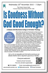 Goodness Without God 25 November 2015