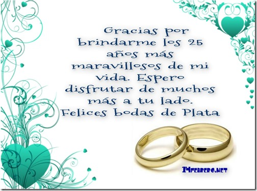 bodas de plata d
