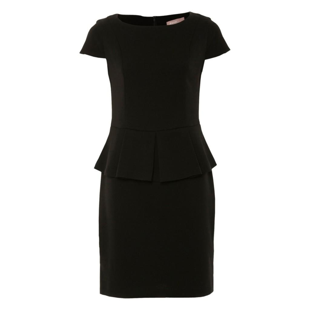 Black Chelsea Peplum Dress   50