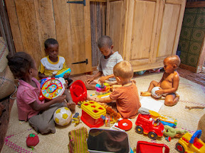 Matimu finally got access to all his toys and his friends in the village have loved playing together with them ever since.