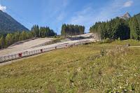 Auf der SS465 Richtung Comeglians. Eine neue Skipiste für den Wintersport.
