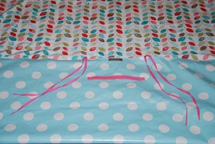 Lisa's picnic blanket handle and strips