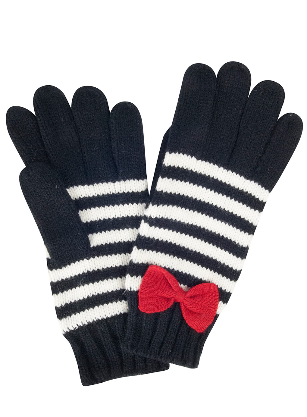 Stripe gloves.   Back