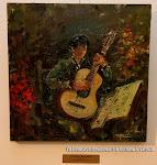 'Preparando el concierto' de Miguel Martí. Óleo sobre lienzo