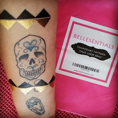 #bellesentials Sexy Metallic Temporary Tattoos