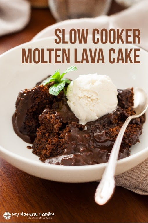 Clean Eating Slow Cooker Molten Lava Cake 3