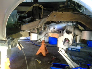 Test fitting subframe on front pads