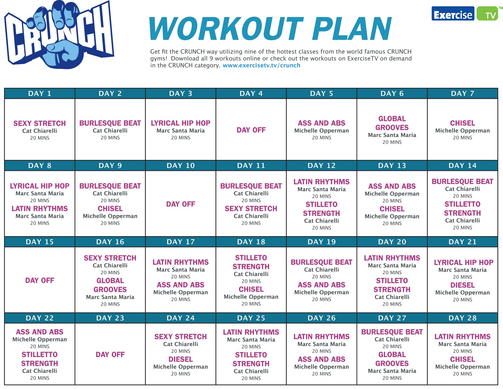 Ideal workout plan nvjuhfo Choice Image
