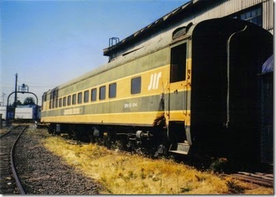 19 Spokane, Portland & Seattle Coach #1124 at the Brooklyn Roundhouse in Portland, Oregon on August 25, 2002