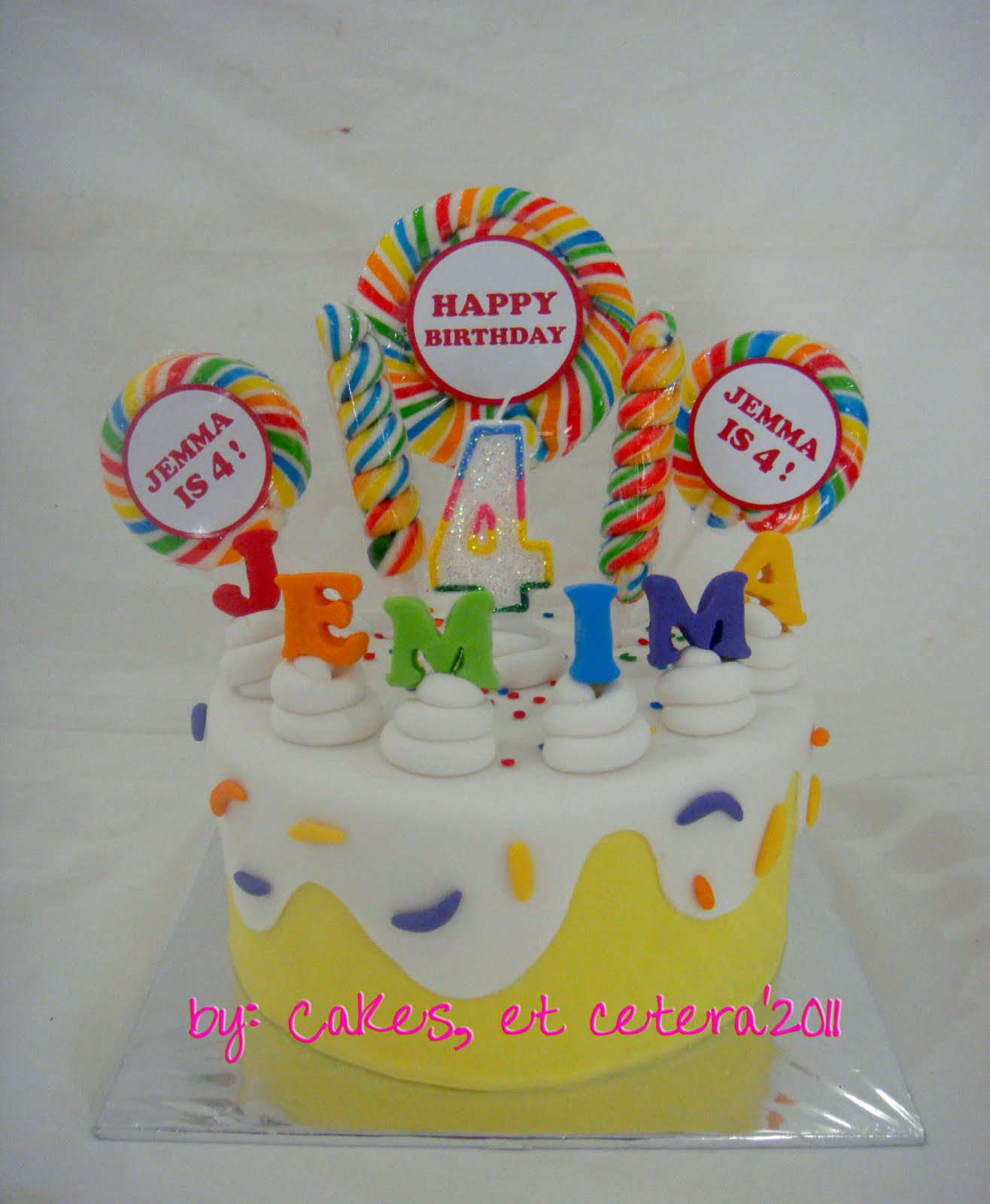 Jemimas 4th birthday cakes