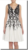 Lauren Ralph Lauren Black and White Floral Print Dress