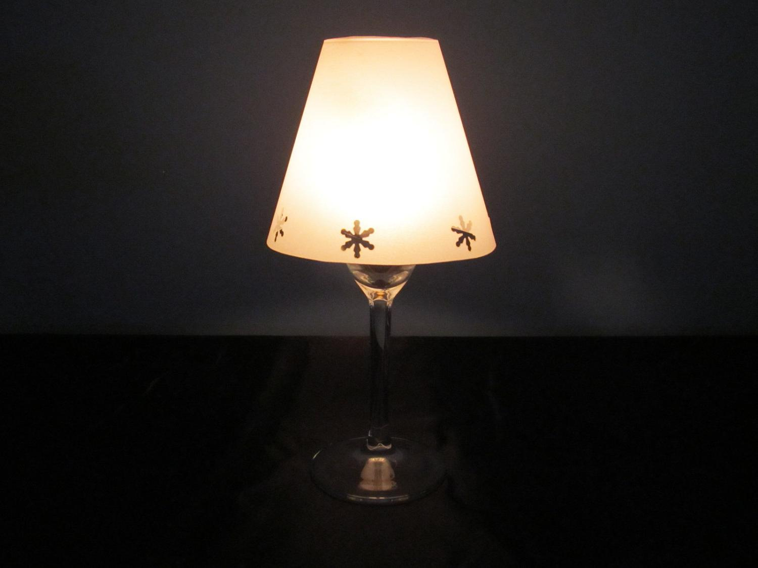 Vellum Wine Glass Luminary