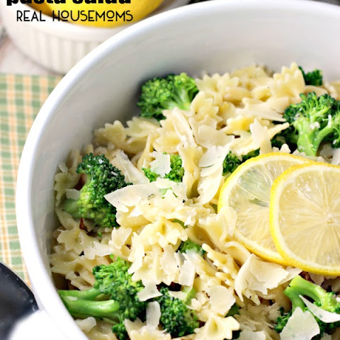 Warm Lemon Broccoli Pasta Salad