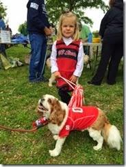 Cheerleader dog Oriental