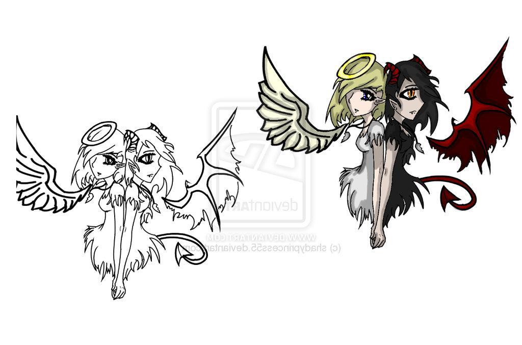 Angel Devil Tattoo by