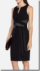 Karen Millen modern wrap black dress