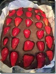 Ricetta Torta fragole e cioccolata 1