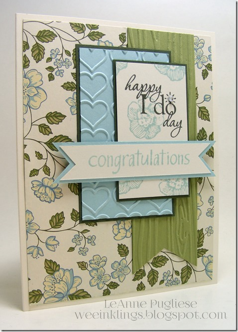 LeAnne Pugliese WeeInklings TSOT232 Wedding Stampin Up