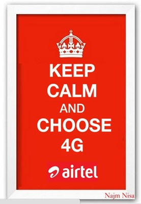keep calm and choose 4g network