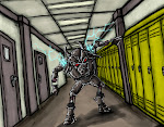 <strong>Cyber-Bully</strong> <em>Digital Media, 2011. Illustration for Secret ID School.</em>