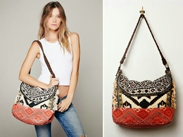 Tribal Print hand bag