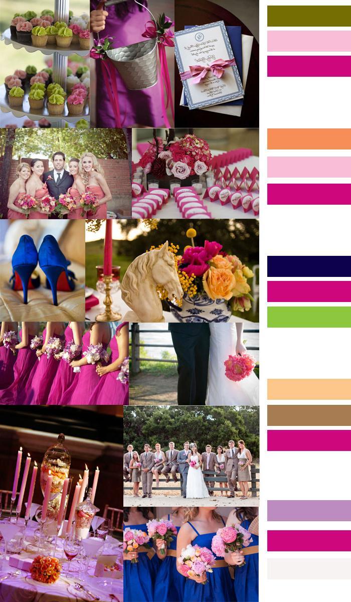 Pink Wedding Color Palettes