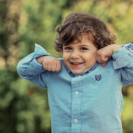 Muscle Man by Tony Bendele - Babies & Children Child Portraits ( child, children, people, portrait )
