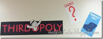 Monopoly classic board game theme bulletin board