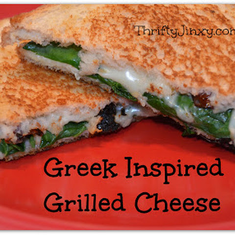 Greek Inspired Grilled Cheese Recipe with Spinach and Feta