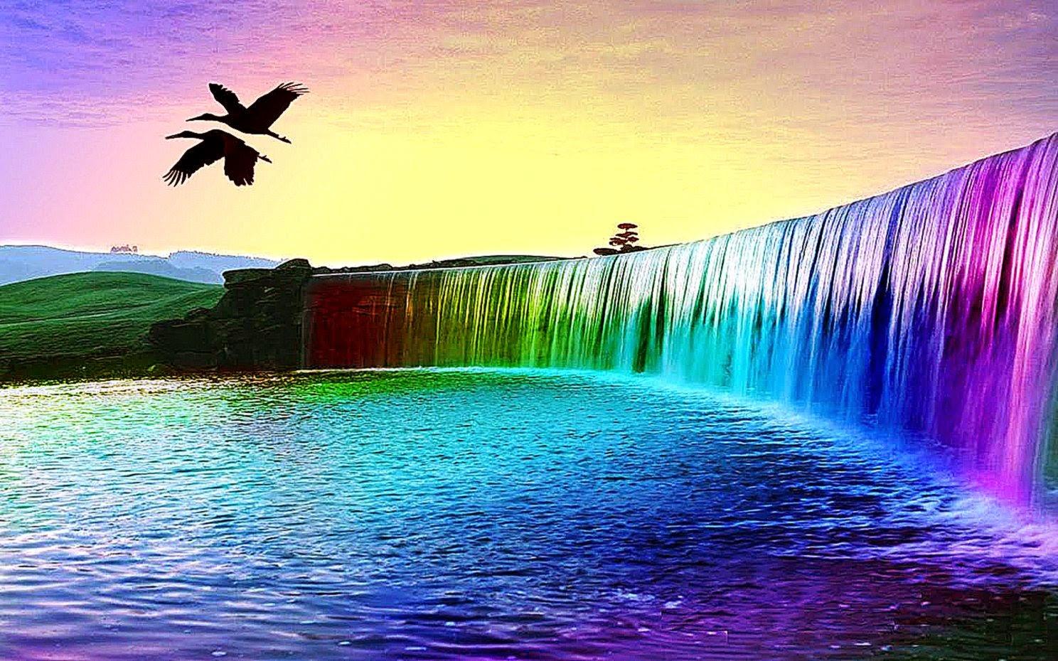 природа волна радуга вода  № 1039564  скачать