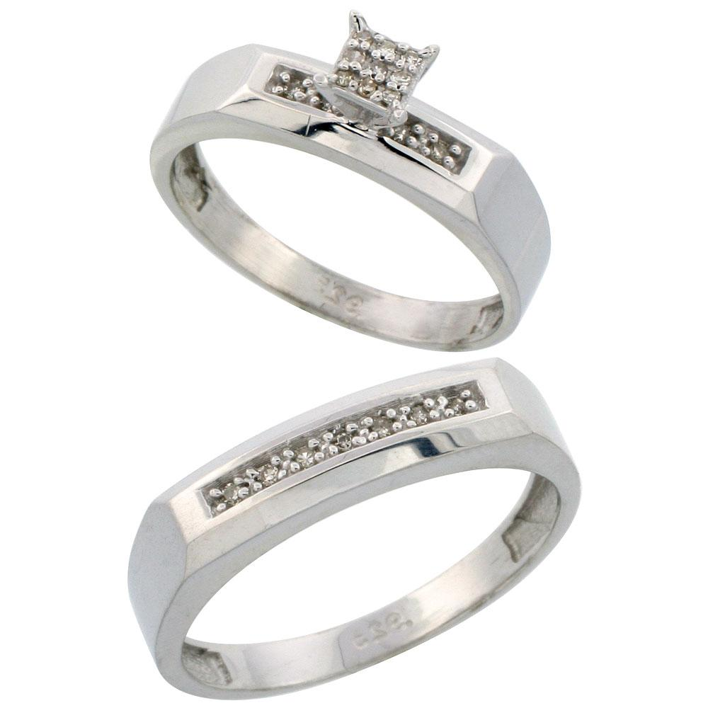 Category: Silver Diamond Engagement RINGs -  Wedding Band Se