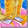 [Vishnu lotus feet]