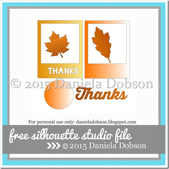 Card kit Monday Frames and Leaves by Daniela Dobson