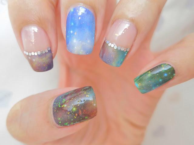Instant Galaxy Nail Art Nail Wrap S1223