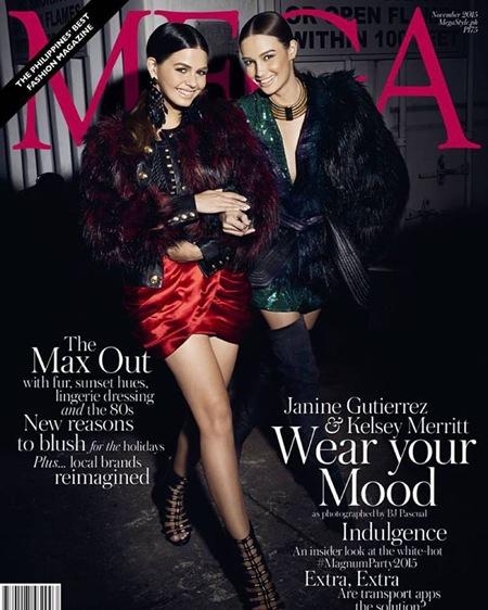 Janine Gutierrez and Kelsey Merritt - Mega November 2015 digital edition cover 2