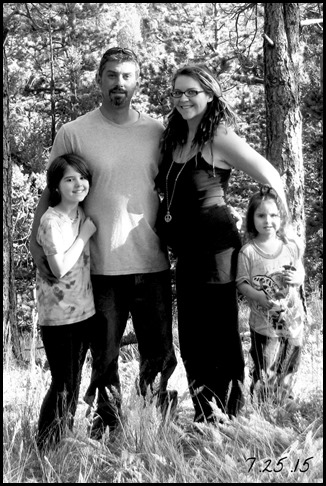 10th Anniversary Family Photo bw
