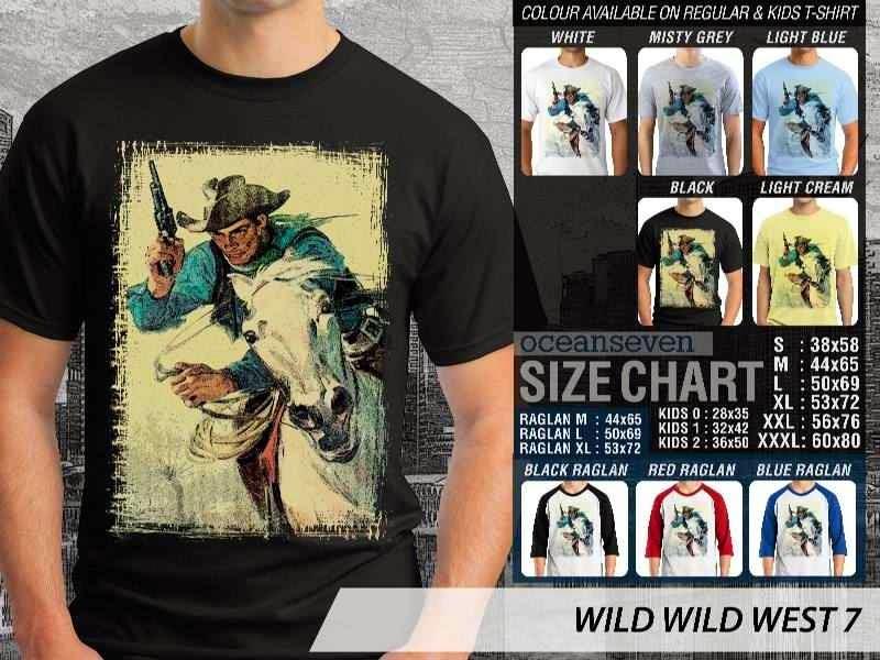 Kaos Cowboy Americana 7 Wild West distro ocean seven