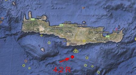 Earthquake   Magnitude 4.1   CRETE  GREECE   2015 September 15  05 04 42 UTC