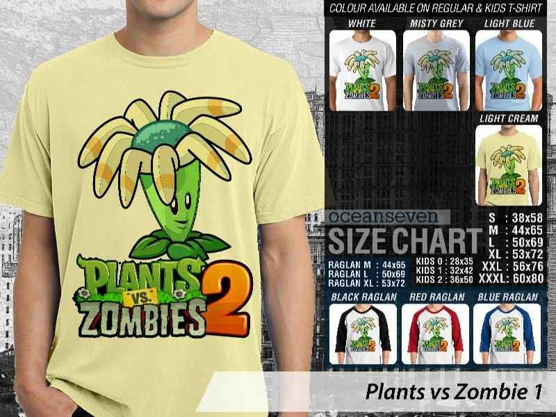 KAOS Plants VS Zombie pvz 1 Game Lucu distro ocean seven