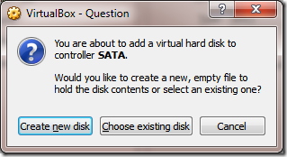 Create VM Create New Disk