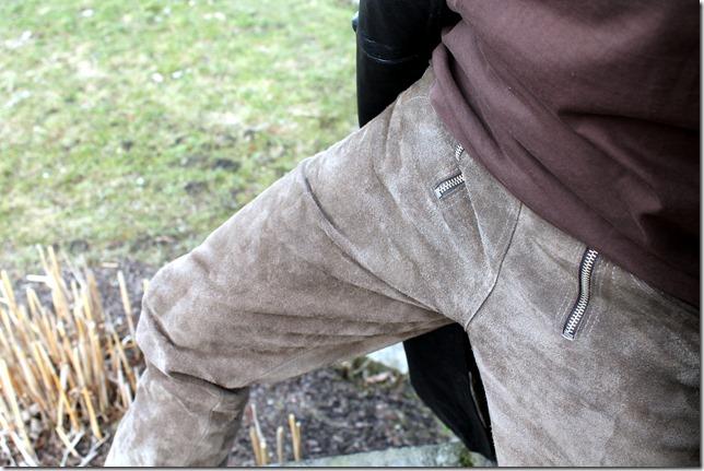 skórzane spodnie z lumpeksu ciucholandu