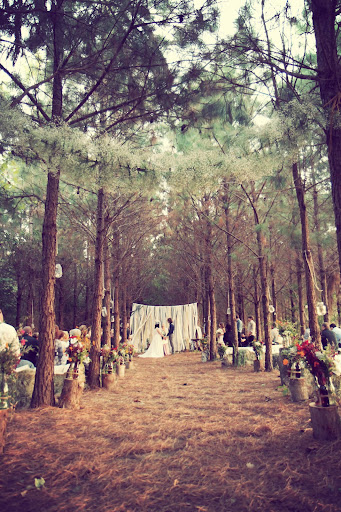 1940s enchanted forest wedding theme