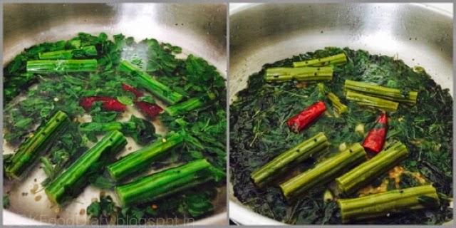 Poricha Kuzhambu Recipe| Drumstick leaves Poricha Kulambu|kuzhambuRecipes 5