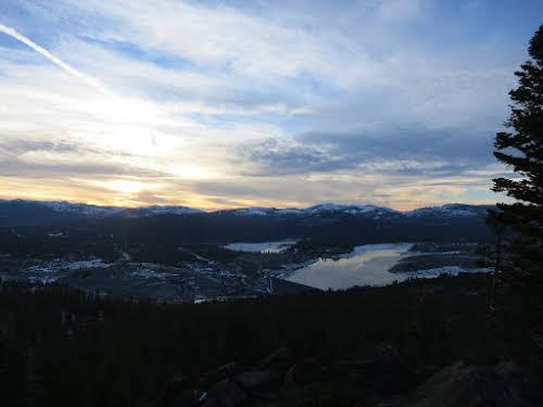 View from Boca Hill on Prosser Creek Reservoir