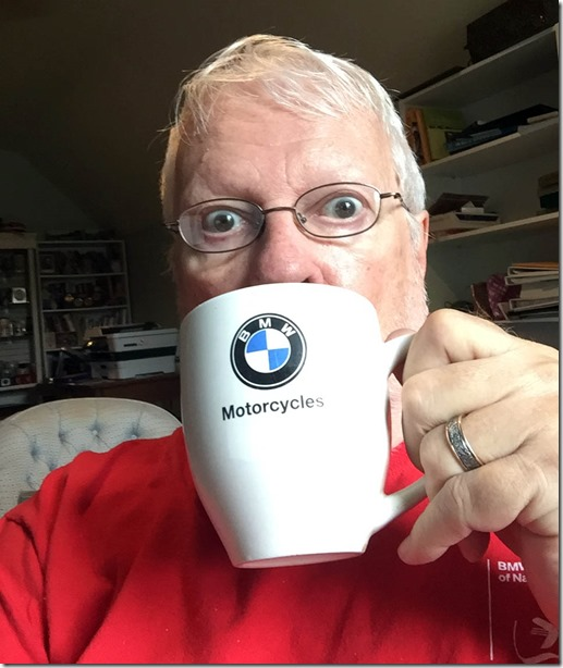 red shirt bmw mug