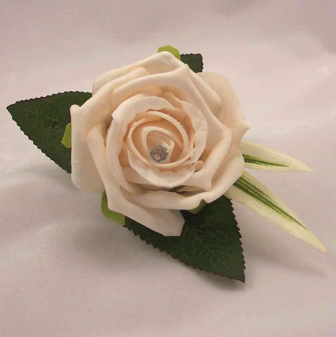 Buttonhole - Silk Wedding
