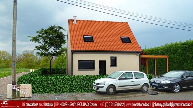 Permis de construire d une maison passive camphin en carembault 59133 w - Construire sa maison passive ...