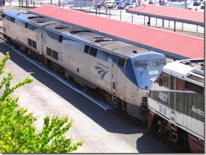 IMG_6052 Amtrak P42DC #55 at Union Station in Portland, Oregon on May 9, 2009