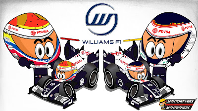 Пастор Мальдонадо Вальтери Боттас Williams FW35 MiniDrivers 2013