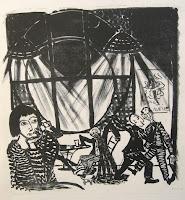 Dej BAO. 044 . Un Chemin dans la Pierre . 1977 . Lithographie . 73 x 55 cm